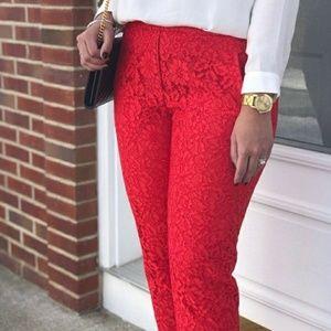 Zara Woman Skinny Fit Lace Pants Size Large